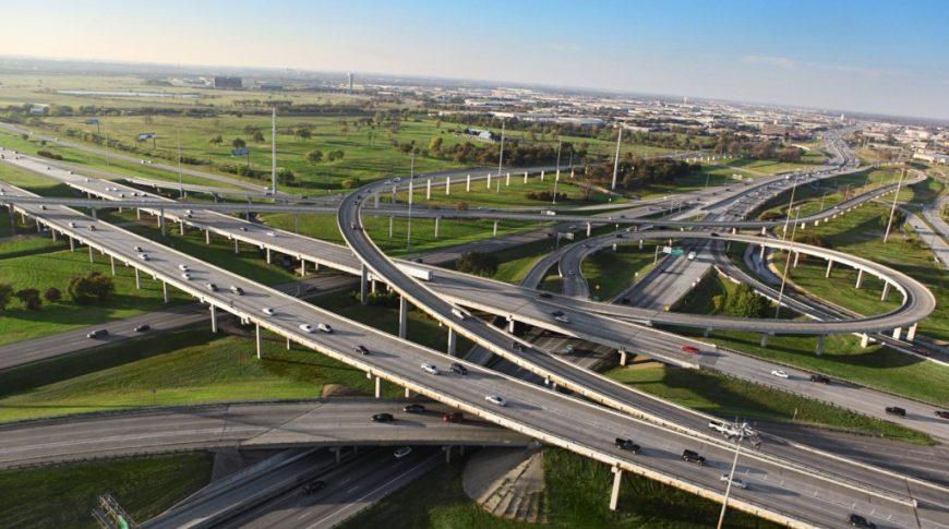 LBJ Express highway in Dallas